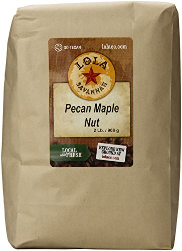 - Lola Savannah Pecan Maple Nut Whole Bean Coffee - Crafted Rich Nutty Flavor with Real Pecan Pieces & Hint of Maple Syrup | Caffeinated | 2lb Bag