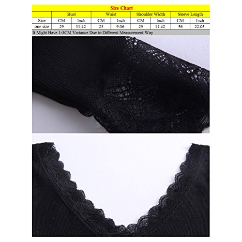 Zhhlinyuan Ladies Mujeres Winter Soft Lace V-neck Long Sleeve Thin Thermal Underwear Pajamas