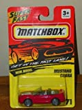 Matchbox Superfast New Model Mustang Cobra Red #71