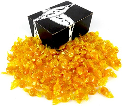 Quality Candy Butterscotch Disks, 2 lb Bag in a BlackTie Box