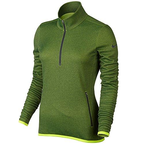 Nike Thermal 1/2 Zip - Camiseta de manga larga para mujer VOLT