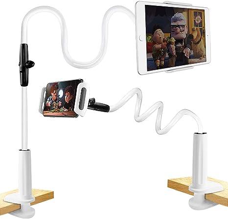 collo d/'oca Supporto lungo per iPhone rotazione a 360/° iPad e tablet fino a 12,9/pollici per letto e tavolo regolabile e flessibile robusto
