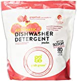 Grab Green Natural Automatic Dishwashing Detergent Powder, Grapefruit and Cranberry, 80 Loads