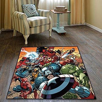 Marvel S The Avengers Velboa Floor Rug Carpet Bedroom Parlor Non Slip Chair Mat Door Mats Floor Mats Enoxmedia Home Garden