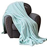 Luxury Collection Ultra Soft Plush Fleece Lightweight All-Season Throw/Bed Blanket (Twin (59-Inch-by-78-Inch), Turquoise)