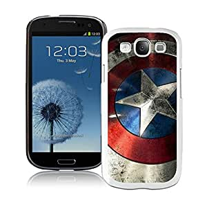 Perfect fit for your beloved phone,100% Brand New Captain America Shield White For Samsung Galaxy S3 i9300 Case