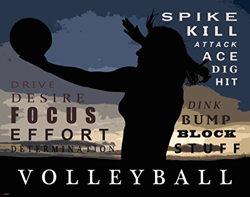 Beach Volleyball Motivational Poster Art Print Girl's Women's Shorts Shoes Clothing