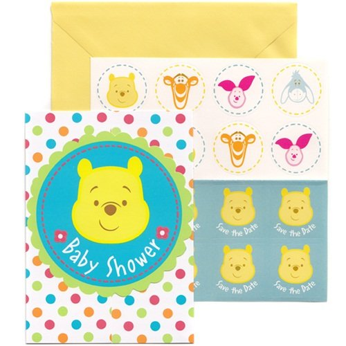 Winnie the Pooh Baby Shower Invitations (8) Invites Cards ()