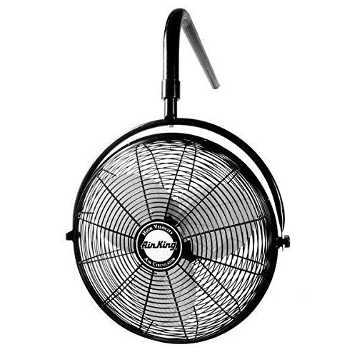 Air King 9520 20-Inch 1/6-Horsepower Industrial Grade I-Beam Mount Fan with 3,670-CFM, Black ()
