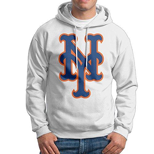 NY Baseball Team Met Hoodie For Men Size L White (Mets Sweatshirt Mens)
