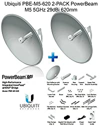 Ubiquiti PBE-M5-620 2-pack PowerBeam M5 5GHz 29dBi 620mm airMAX 30+km 150+Mbps