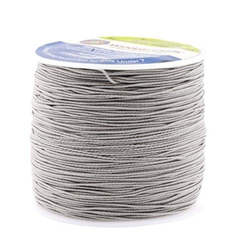 Stretch Braid (Mandala Crafts 0.6mm 80M Round Rubber Fabric Crafting Stretch Elastic Cord String (Gray))