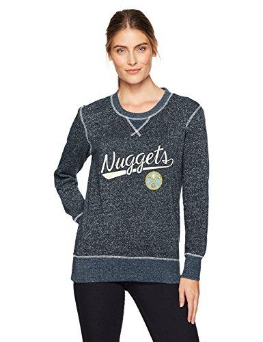 Nugget Textured - NBA Denver Nuggets Women's Ots Seneca Crew Neck Pullover, Small, Fall Navy