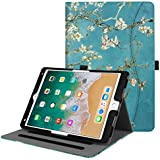 Fintie iPad Pro 10.5 Case - [Corner Protection] Multi-Angle Viewing Folio Stand Cover with Pocket, Auto Wake/Sleep Feature for Apple iPad Pro 10.5 Inch 2017 Release Tablet, Blossom