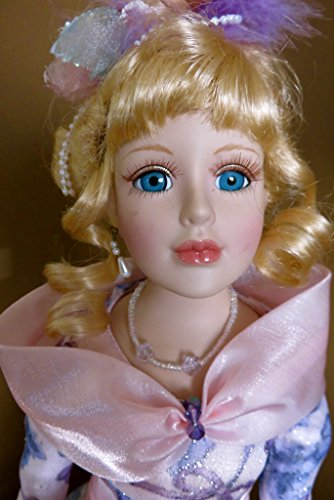 ChosenTreasures4You Porcelain Doll with Flowered Dress 16 in. Blonde Hair
