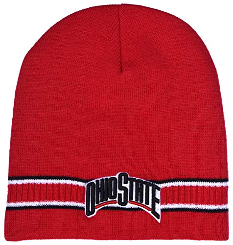 Collegiate Headwear Ohio State Buckeyes Men's Dash Knit Beanie (Red) (Ohio State Knit Hat)