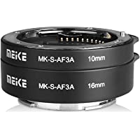 Meike MK-S-AF3-A Metal Auto Focus Macro Extension Tube Adapter Ring (10mm+16mm )for Sony Mirrorless E-Mount FE-Mount A7…