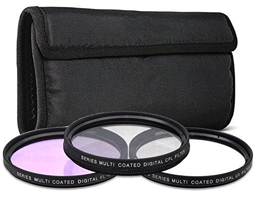 62mm 3PC Filter Kit CPL UV FLD for Sony 90mm f/2.8 Macro G OSS Lens -  Commander Elite Optics, 33RD-3PCFLKX193