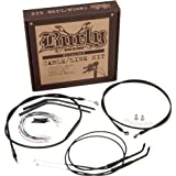"Burly B30-1035 Cable/Brake Line Kit for 16"" Height Apehanger Handlebars"