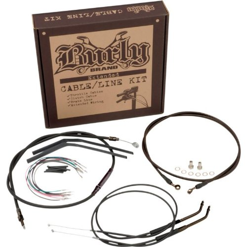 BURLY B30-1035 Cable/Brake Line Kit for 16' Height Apehanger Handlebars