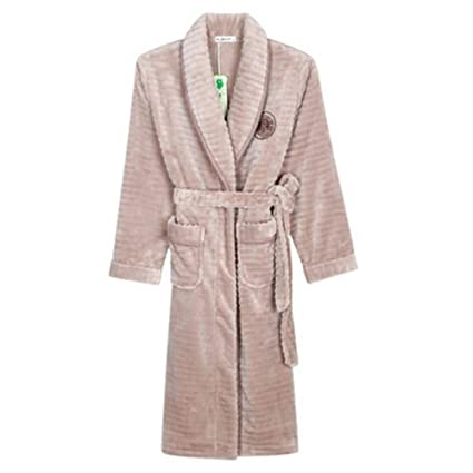 Image Unavailable. Image not available for. Color  Robe NAN Liang Ladies  Luxury Terry Towelling Cotton Dressing ... 434745a70