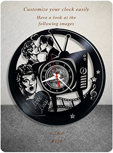 I Love Lucy vinyl clock, vinyl wall clock, vinyl record clock greatest sitcom lucille ball the lucy show here's lucy life with lucy wall art decor gift 129 - (c2) by New Life Of Vinyl
