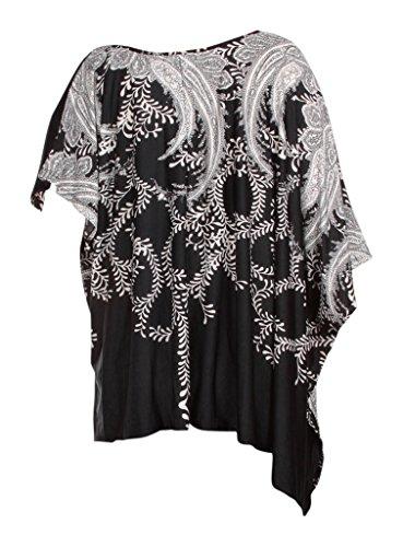 Damen Suri White Print Black Vine Mia Kleid PqzxwP5
