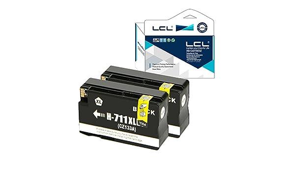 LCL Cartucho de Tinta Compatibles 711XL 711 XL CZ129A CZ133A 80ML High Yield (2 Negro) Reemplazo para HP Designjet T120 24 T120 610 T520 24 T520 36 T520 610: Amazon.es: Electrónica