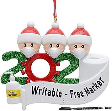 Christmas 2020 Ornament Resin Amazon.com: RubRab 2020 Quarantine Christmas Decoration Gift