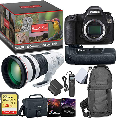 EOS 5DS DSLR Camera - Bird and Wildlife Photography Bundle - 400mm Super Telephoto Lens - Photo Adventure Backpack - 128GB Memory Card
