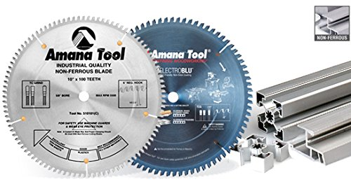 Amana Tool 510101 Thin Wall Non-Ferrous 10-Inch x 100 Tooth TCG 5/8 Bore Saw Blade by Amana Tool