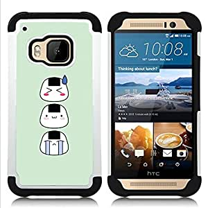 - Funny Asian Faces/ H???¡¯????brido 3in1 Deluxe Impreso duro Soft Alto Impacto caja de la armadura Defender - SHIMIN CAO - For HTC ONE M9