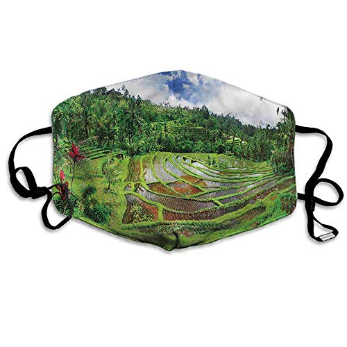 "Balinese Fashion Mouth Mask Traditional Rural Farming for Cycling Camping Travel W4""x L7"""