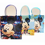 Disney Mickey Mouse Party Favor Goody Gift Bags - 8'' Medium Size (12 Bags)