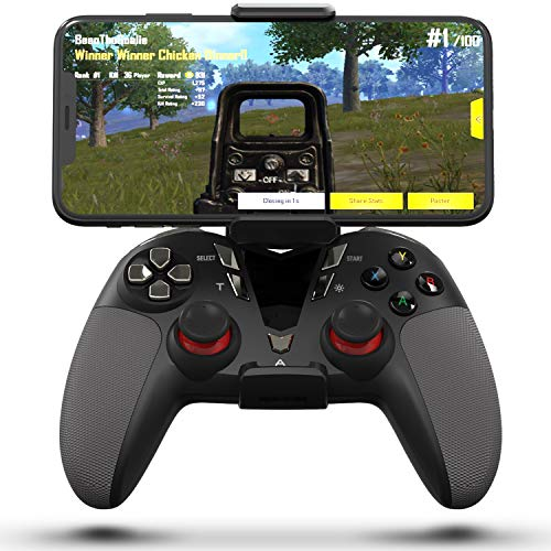 Delta essentials Bluetooth Wireless Mobile Game Controller for iOS/Android OS/PS3/PC Windows, Gamepad for Mobile Gaming Support Keymapping Black (Best Wireless Controller For Android)