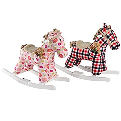 HollyHOME Plush Rocking Horse