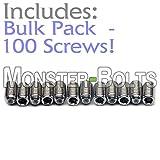 BULK PACK QTY 100 - Bridge Saddle Height Adjust Set Screws For Guitar / Bass - MonsterBolts (M3 x 6mm (Metric), Stainless Steel)