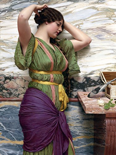 A FAIR Reflection by John William Godward Girl Woman Mirror People Accent -