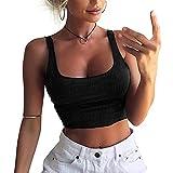 XWDA Women Sexy Tank Tops Sleeveless Short Vest Blouse T-Shirt Crop Vest Tops
