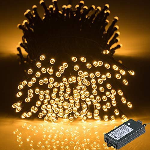 GlobaLink LED-kerstverlichting batterij 40M 300Leds buiten en binnen – 8 standen timer en geheugenfunctie Waterdicht…