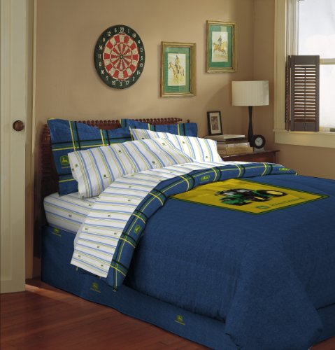 John Deere Bedding Denim Collection Pillow Sham, 20 by 26-Inch