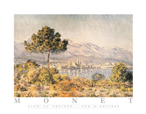 Laminated View of Antibes Poster by Claude Monet 22 x - Claude Lake Monet Tree