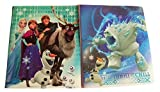 Disney Frozen Set of 2 Poly Folders ~ The Thrill of the Chill (All Smiles; Marshmallow and Olaf; Two Pocket Folders with Prongs)