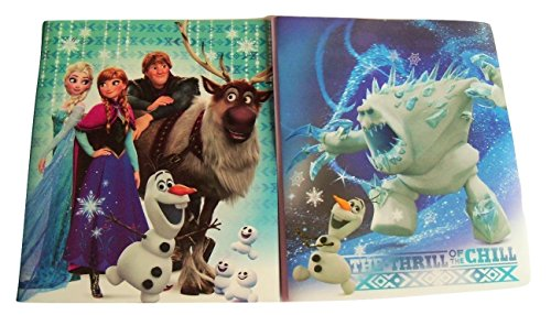 Disney Frozen Set of 2 Poly Folders ~ The Thrill The Chill (All Smiles; Marshmallow Olaf; Two Pocket Folders Prongs) -