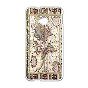 Map And History White HTC M7 case