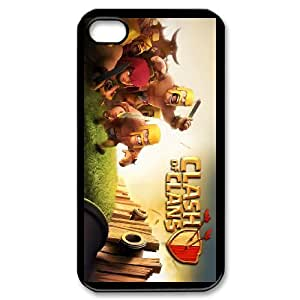 DIY iPhone 4,4S phone case With Clash And Clans Pattern , Perfectly Fit Your Smartphone