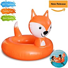 Pool Float - Inflatable Fox Pool Float Swimming Tube Ring Summer Toys and Gift for Adult Baby Children Boy Girl