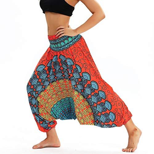 danza Pantaloni Pantaloni Harem Hippie Pantaloni Alibaba Pantaloni Beach Alla Indiana Lvguang Stile2 Boho Donne Yoga SXx7Rp