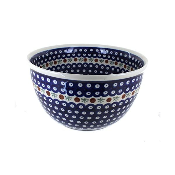 Blue Rose Polish Pottery Nature Large Mixing Bowl