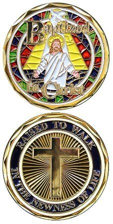 Jesus Christ Stained Glass Bible Religious Baptism for sale  Delivered anywhere in Canada